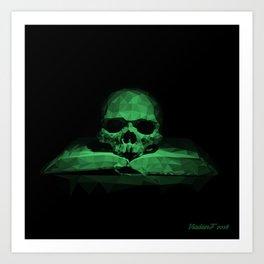 Memento mori - jungle green Art Print