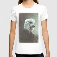 poodle T-shirts featuring Poodle by womoomow