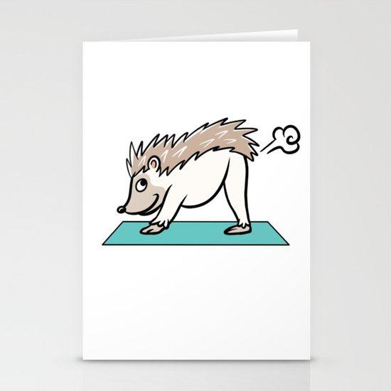 Hedgehog Yoga Pose by barktrends