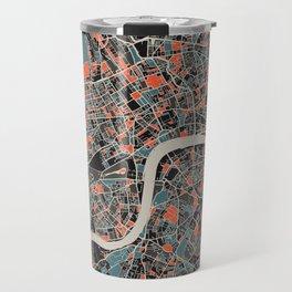London Multicoloured Print Travel Mug