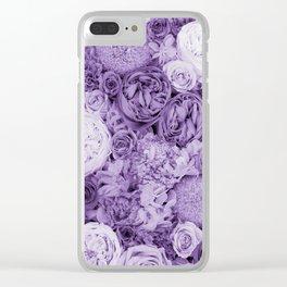 bouquet ver.purple Clear iPhone Case