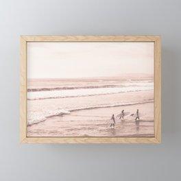 Vintage Sunset Surfing Framed Mini Art Print