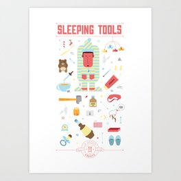 Sleeping tools Art Print