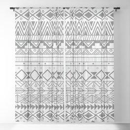 Aztec pattern 004 Sheer Curtain
