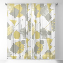 CREATIVE MODERN PATTERN Sheer Curtain