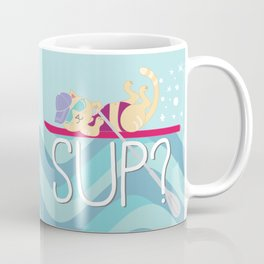SUP Cat Coffee Mug