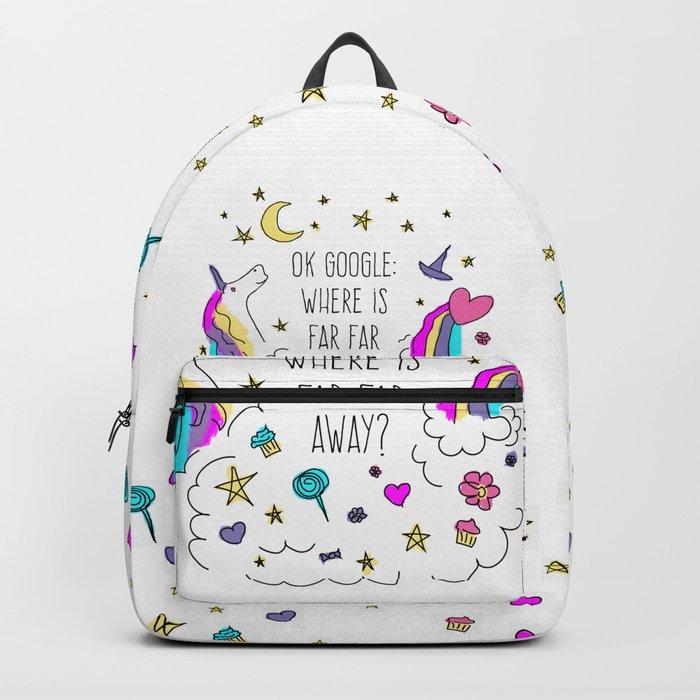 Where Is Far Far Away? Backpack