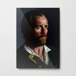 Captain Flint (Toby Stephens) - Colour Metal Print
