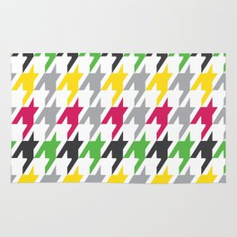 Summer Houndstooth Pattern Rug