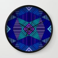 tapestry Wall Clocks featuring Tapestry  by Truly Juel