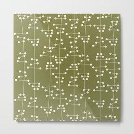 Mid Century Seaweed Metal Print