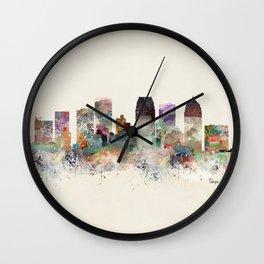 tampa florida skyline Wall Clock