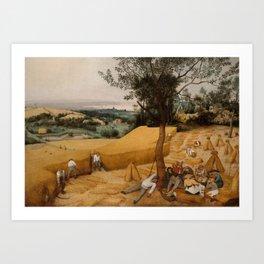 THE HARVESTERS, by Pieter Bruegel the Elder, 1565 Art Print