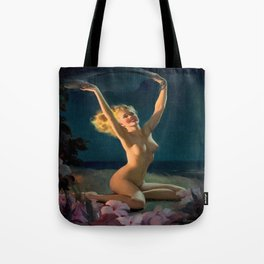 (Happy) Gay Nymph by Gil Elvgren Pin Up Girl Tote Bag