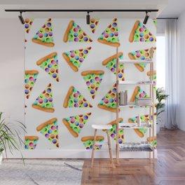 Rainbow Pizzas! Wall Mural