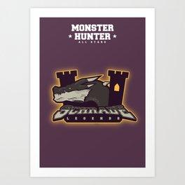 Monster Hunter All Stars - Schrade Legends Art Print
