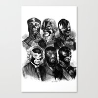 wwe Canvas Prints featuring WWE 1789 by DIVIDUS