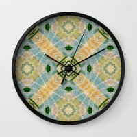 oasis Wall Clocks featuring Oasis by Ananas Art Shop