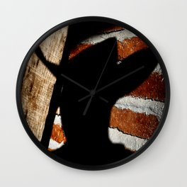 Shadowman on Brick Wall Clock