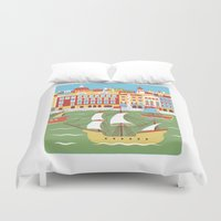 ariana grande Duvet Covers featuring Canal Grande by Jacopo Rosati