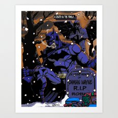 A Death In The Family Art Print
