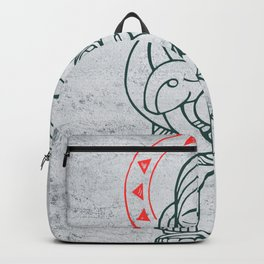 Jesus Chris Good Shepherd illustration Backpack
