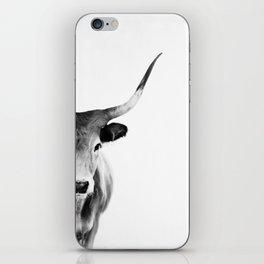 Honey - black and white iPhone Skin
