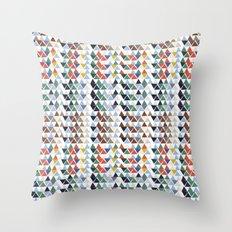 Fun triangles Throw Pillow