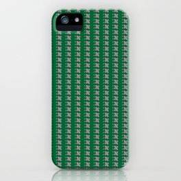 pinkgreen check iPhone Case
