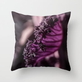 Abstract Purple Leaf in Morning Light Throw Pillow