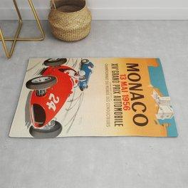Monaco Grand Prix Poster Rug