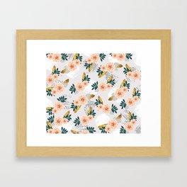 Floral pattern of roses Framed Art Print