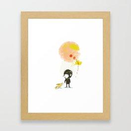 Lester, take a walk. Framed Art Print