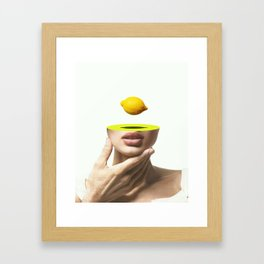 Yellow mind Framed Art Print