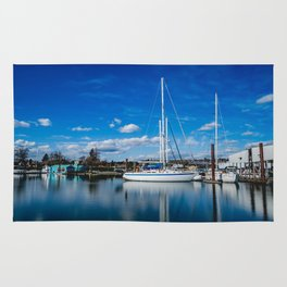 Columbia River Boat Reflection Rug