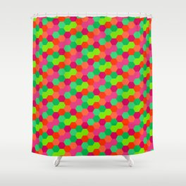 Hexagonal Pattern Shower Curtain