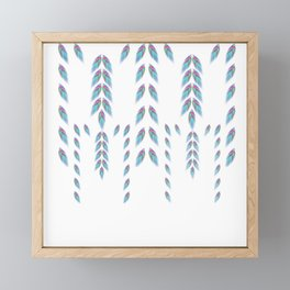 Delicate Feathers Framed Mini Art Print