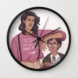 sirius and harry 1st day Wall Clock