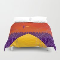 magneto Duvet Covers featuring Magneto Was Right  by modHero