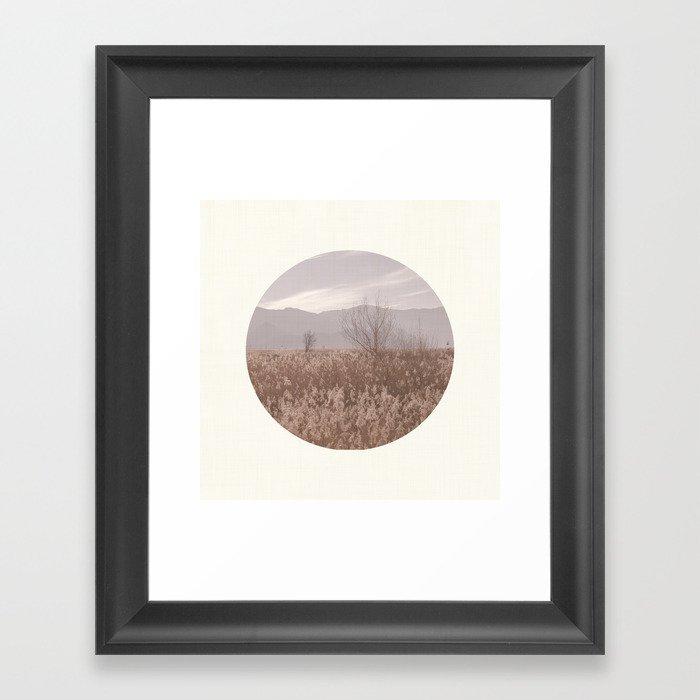 Landscape Circular I Framed Art Print