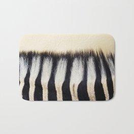 Zebra hair Bath Mat