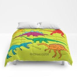 Dinosaur Print - Colors Comforters