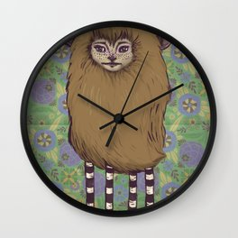 Fawn Girl Wall Clock