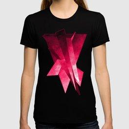 Frei-Flug-Form pink T-shirt