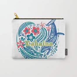 Lahaina Watercolor Whale Carry-All Pouch