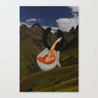 toilet Canvas Prints featuring mountain toilet by •ntpl•