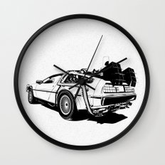 DeLorean / BW Wall Clock