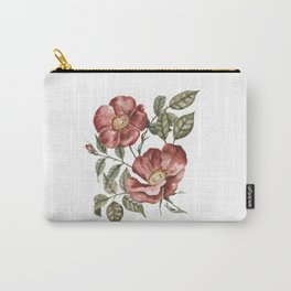 Red Floral Painting Carry-All Pouch