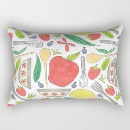 doodle style kitchen elements Rectangular Pillow