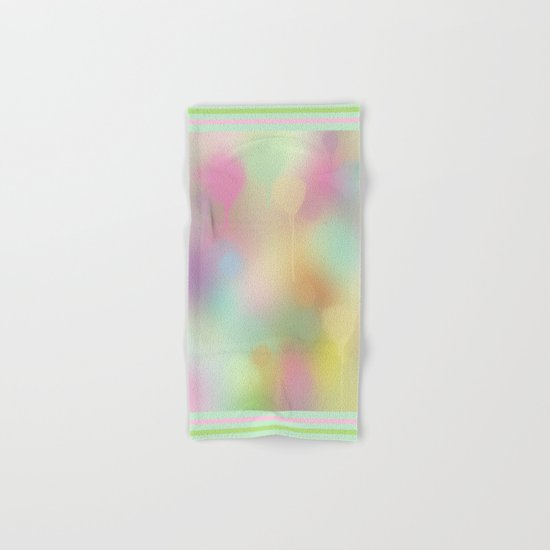 Soft pastel watercolour abstract Hand & Bath Towel